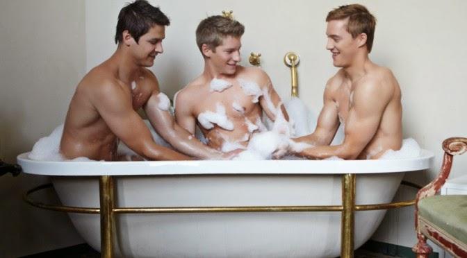 trío gay cuerpo